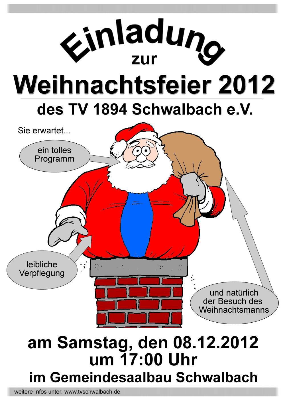 weihnachtsfeier 2012 tv 1894 schwalbach e v. Black Bedroom Furniture Sets. Home Design Ideas